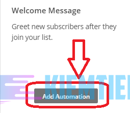 Automation Mailchimp Email Welcome